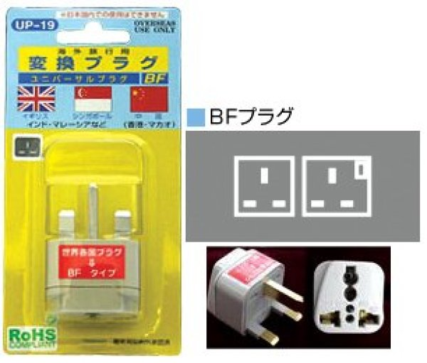 Photo1: Multi-plug BF type (United Kingdam/England) (1)